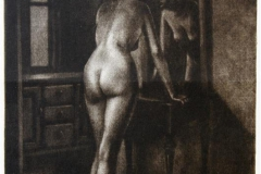 Sommernatt (foran speilet) Mezzotint 32x22 cm 1500 ur