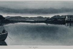 Ved kysten Etsning 13x39 cm 1400 ur