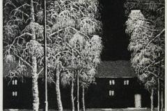 Vintergate Etsning 32,5x21 cm 800 ur