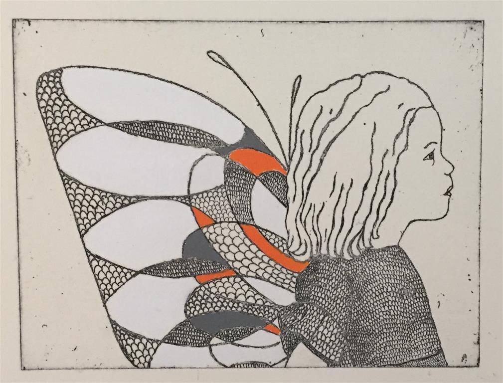 To see Etsning håndkolorert, farget versjon (15x20 cm) kr 1300 ur