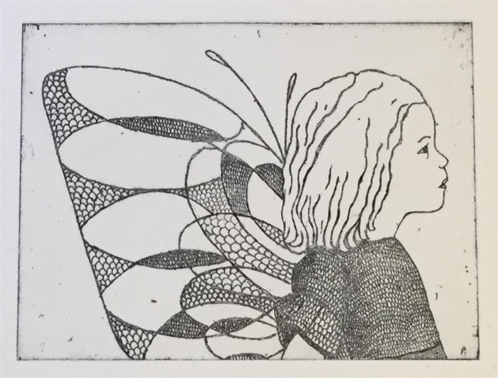 To see Etsning,  sort-hvit versjon (15x20 cm) kr 1300 ur