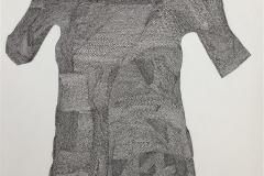 Genser på klessnor Tekstiltusj og akryl på lin lerret (73x60 cm) kr 10000 ur