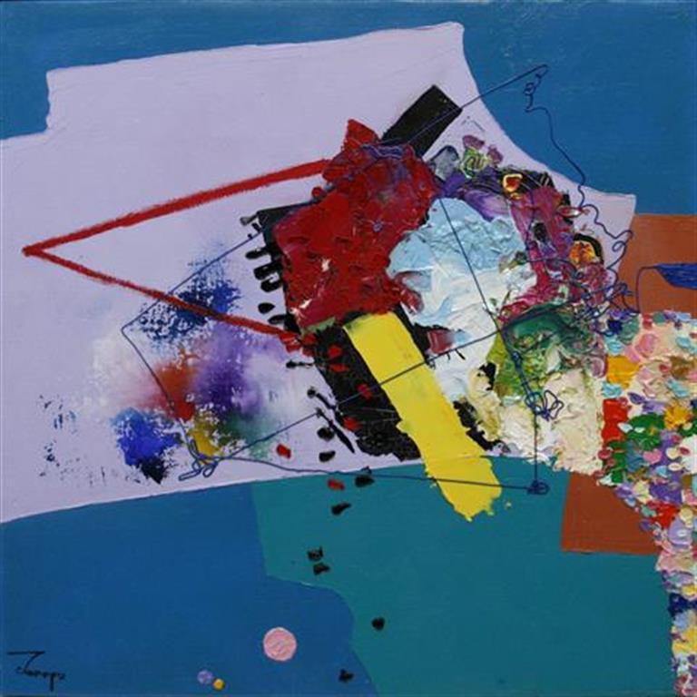 Abstrakt Maleri 40x40 cm 4800 mr