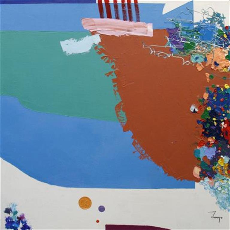 Abstraktion Maleri 50x50 cm 6000 mr
