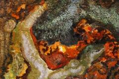 Høstlys II Oljemaleri (25x25 cm) kr 2200 ur