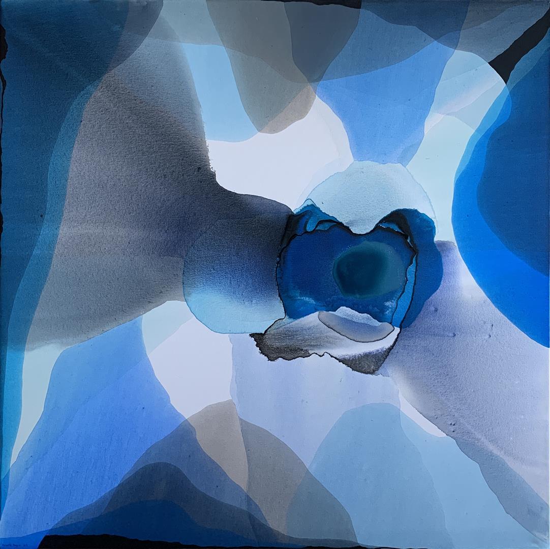 Annette Bryne: Farge og flyt I Akrylmaleri (100x100 cm) kr 13000 ur