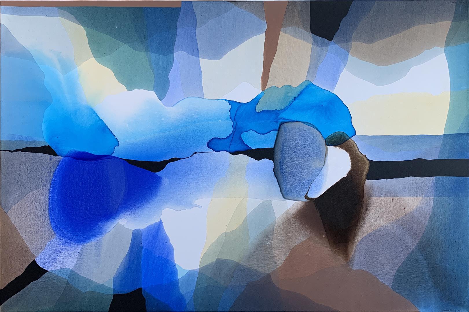 Annette Bryne: Farge og flyt II Akrylmaleri (80x120 cm) kr 12000 ur