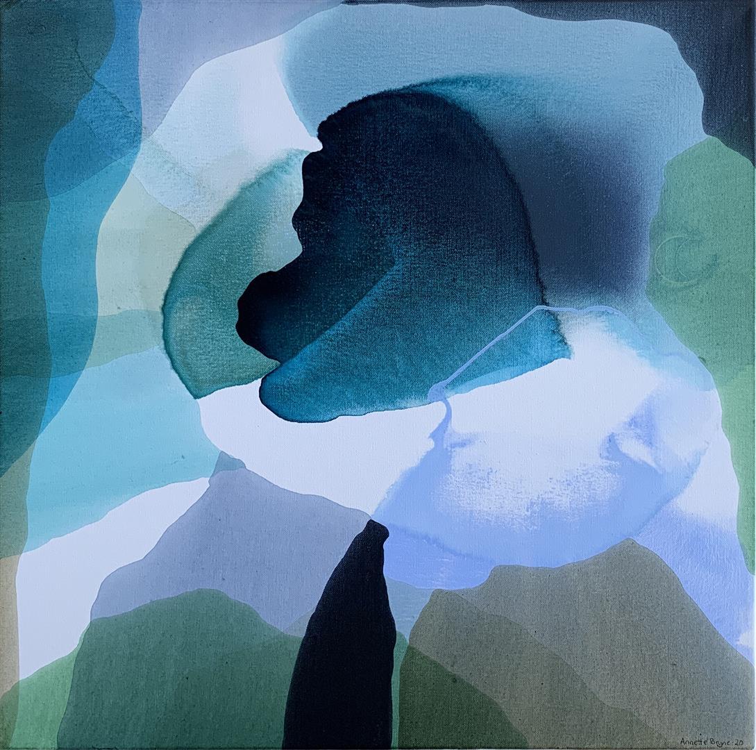 Annette Bryne Farge og flyt IV Akrylmaleri (60x60 cm) kr 6000 ur