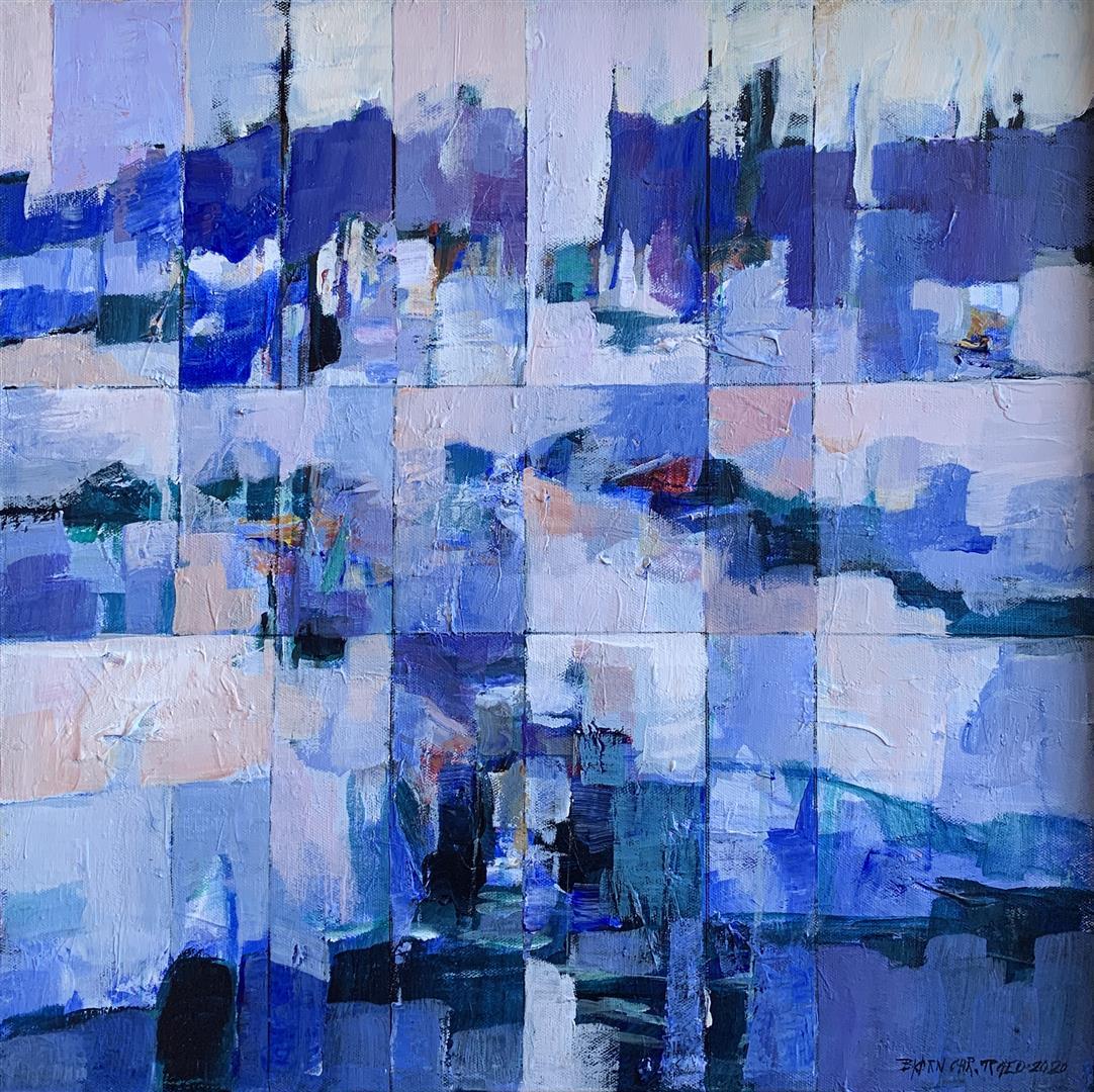 Bjørn Chr Røed Vinterdag Akrylmaleri (50x50 cm) kr 6500 mr