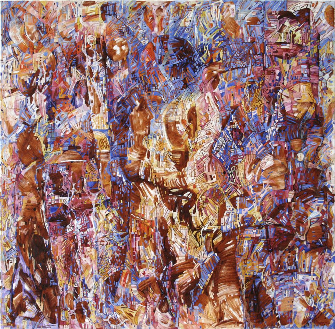 Elena Vorobyeva Kjærlighetsformel Oljemaleri (100x100 cm) kr 35000 ur