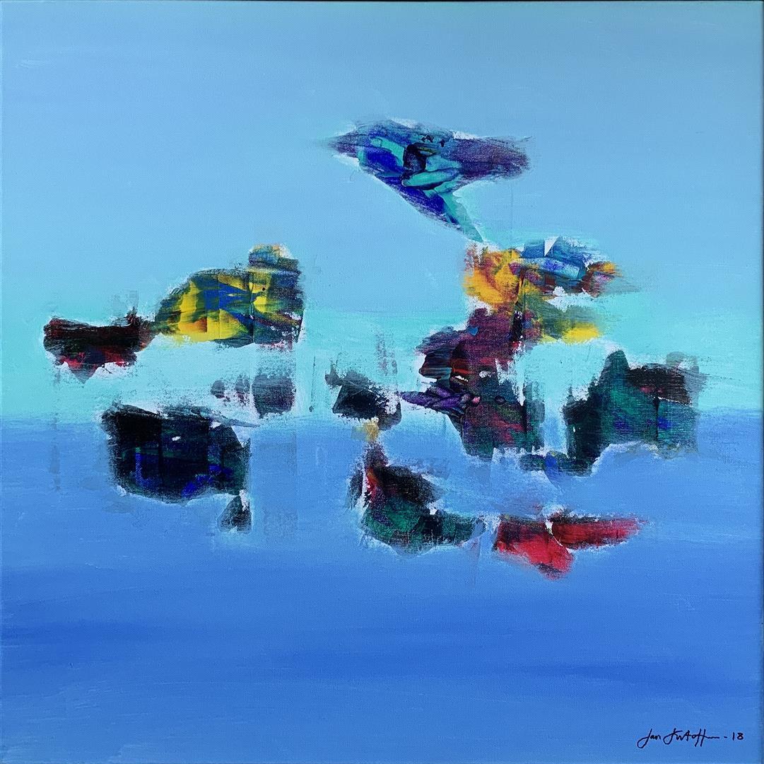 Jan Kristoffersen Hva er det Akrylmaleri (70x70 cm) kr 7500