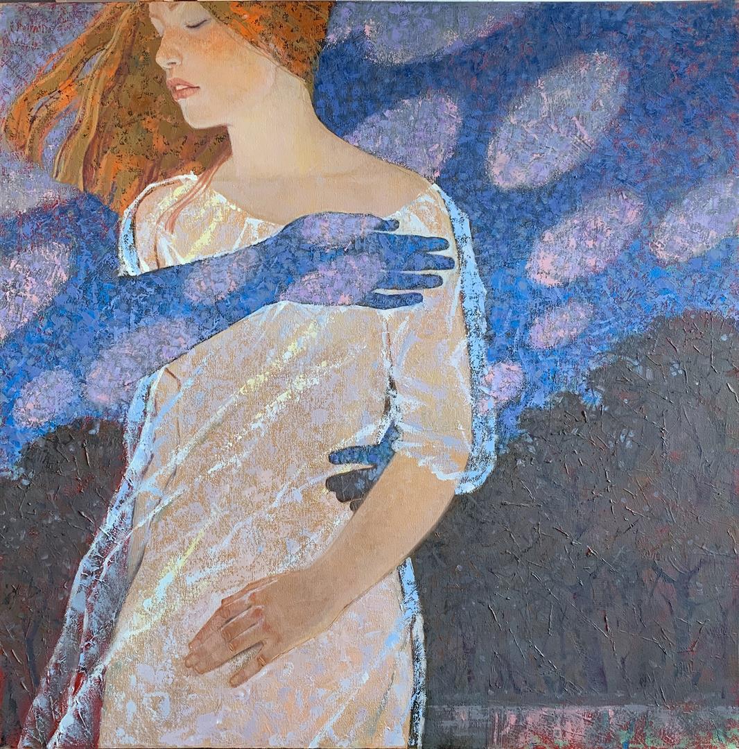 Julia Mordvinova Gilje Enchanted woods I Oljemaleri (80x80 cm) kr 10000 ur