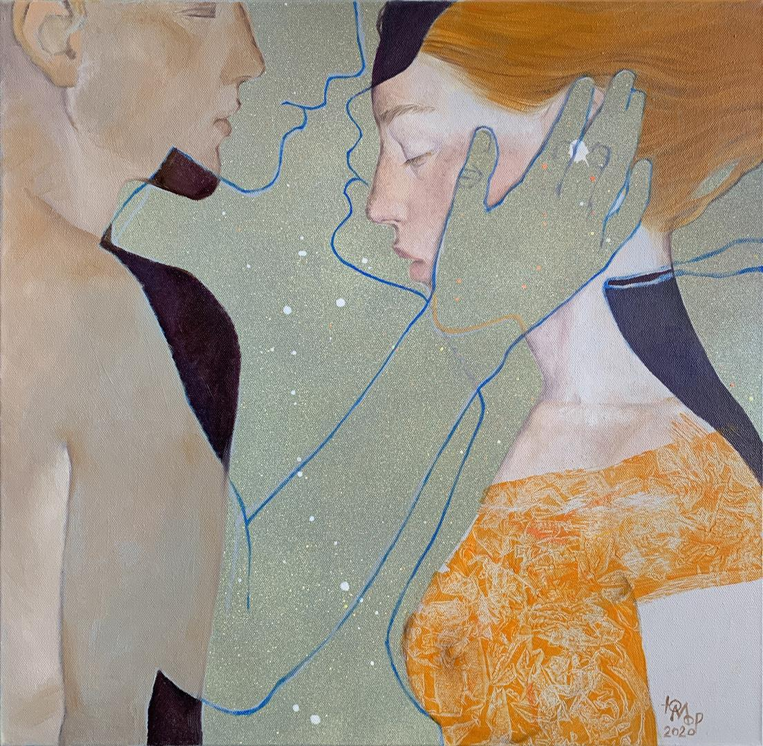 Julia Mordvinova Gilje Lengsel Olje og akrylmaleri (50x50 cm) kr 6500 ur