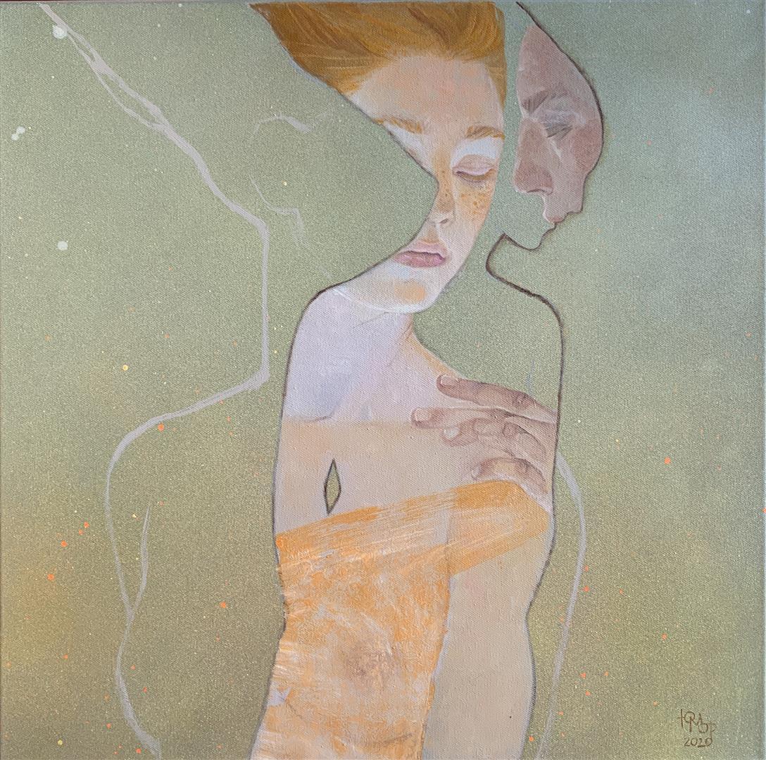 Julia Mordvinova Gilje Silhuett Olje og akrylmaleri (50x50 cm) kr 6500 ur