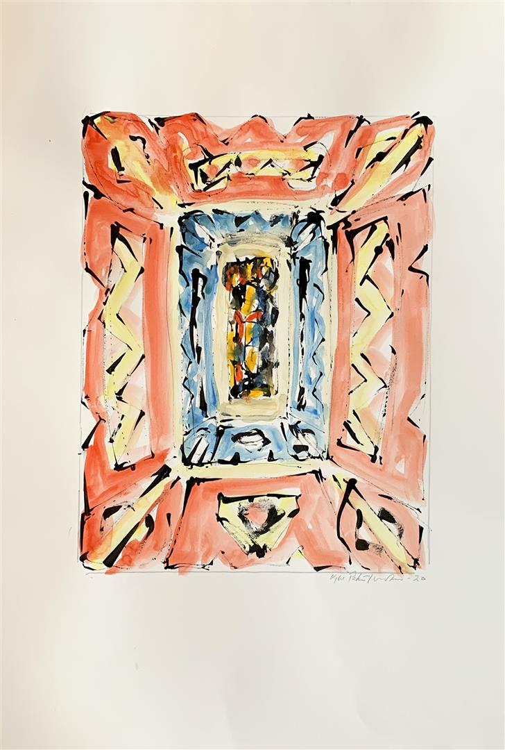 Kjell Pahr-Iversen Ikon I Akvarell (46x30 cm) kr7500 mr