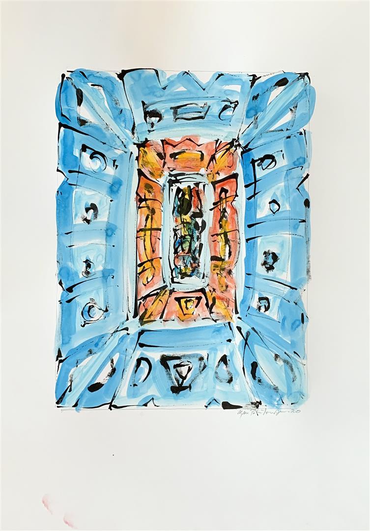 """Kjell Pahr-Iversen """"Ikon II"""" Akvarell (46x30 cm) kr 7500 mr"""