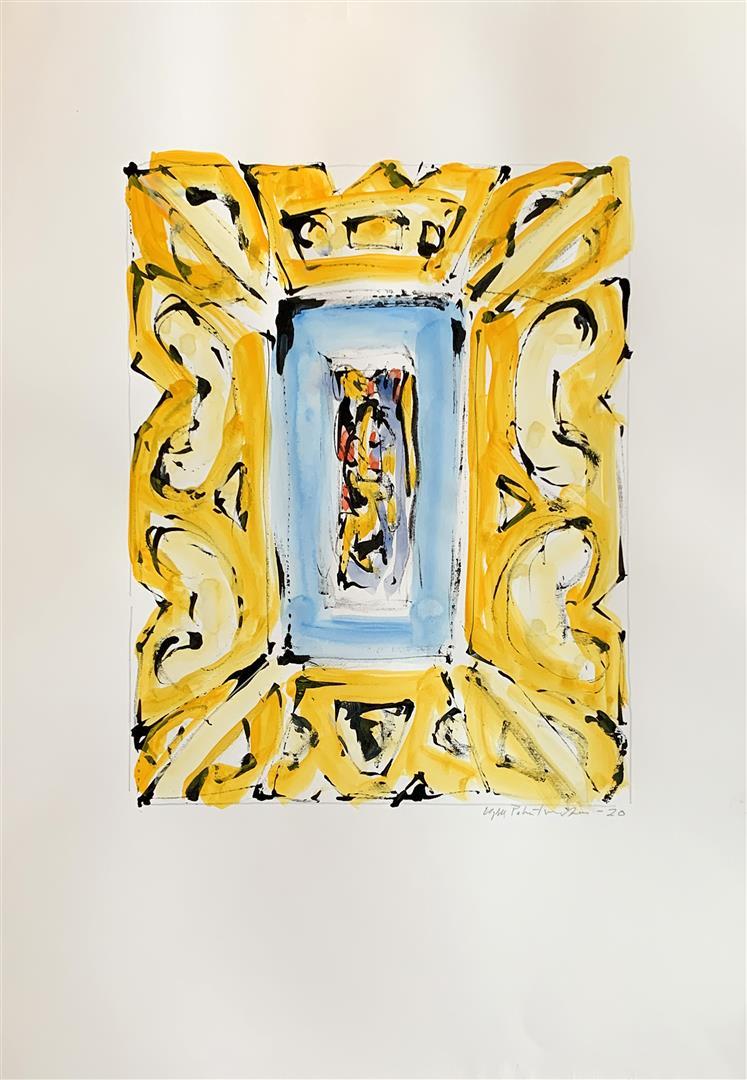 """Kjell Pahr-Iversen """"Ikon III"""" Akvarell (46x30 cm) kr 7500 mr"""