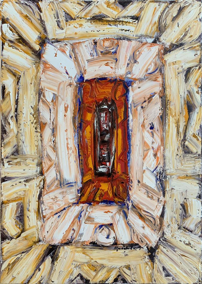 Kjell Pahr-Iversen Ikon, liten Oljemaleri (70x50 cm) kr 35000 ur