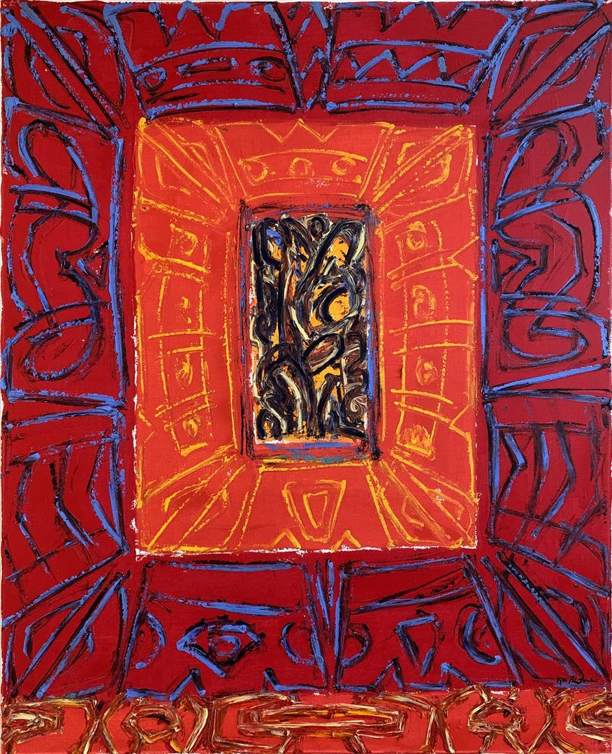 Kjell-Pahr-Iversen-Ikon-varme-farger-Oljemaleri-100x80-cm-kr-500Kjell Pahr-Iversen Ikon, varme farger Oljemaleri (100x80 cm) kr 50000 ur00-ur