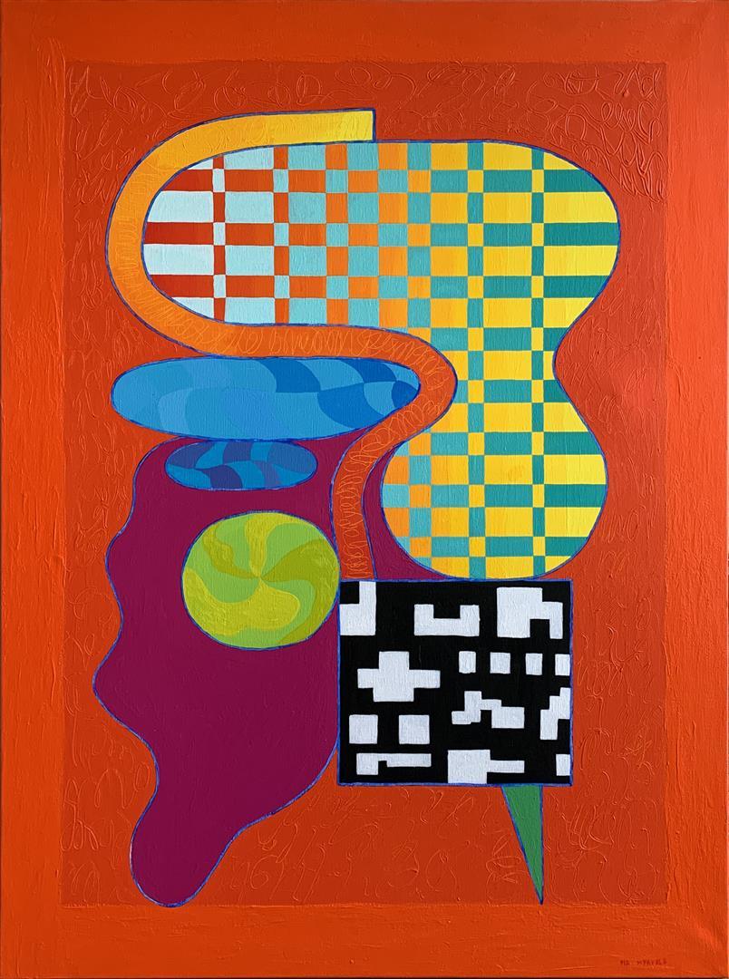 Pia Myrvold Open House Akrylmaleri (130x100 cm) kr 57000 ur
