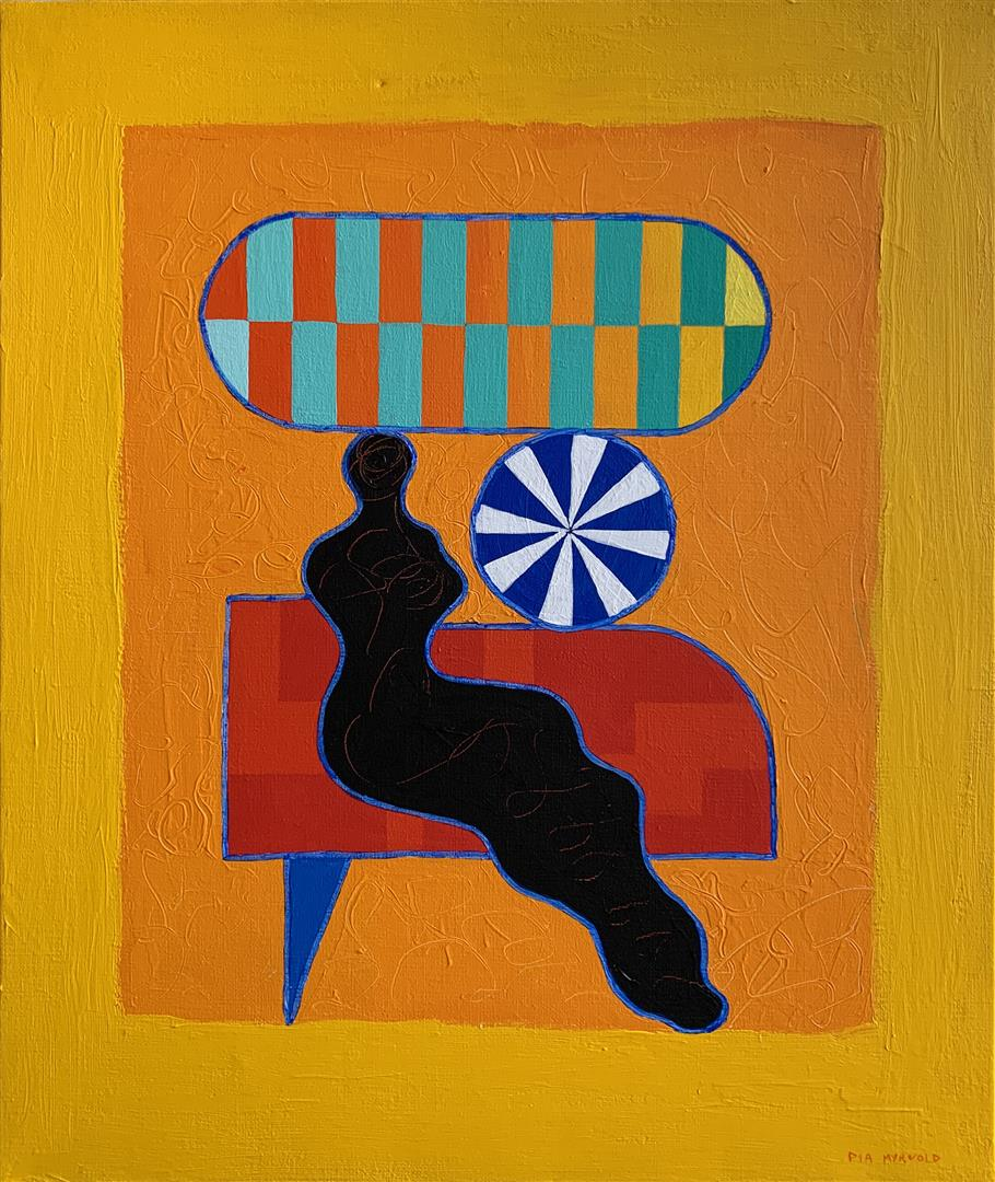 Pia Myrvold Liten Venus I Akrylmaleri (55x46 cm) kr 19500 ur
