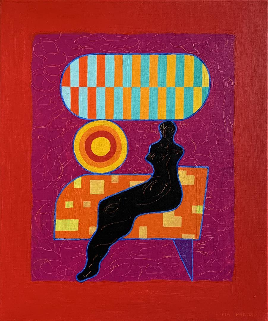 """Pia Myrvold """"Liten Venus II"""" Akrylmaleri (55x46 cm) kr 19500 ur"""