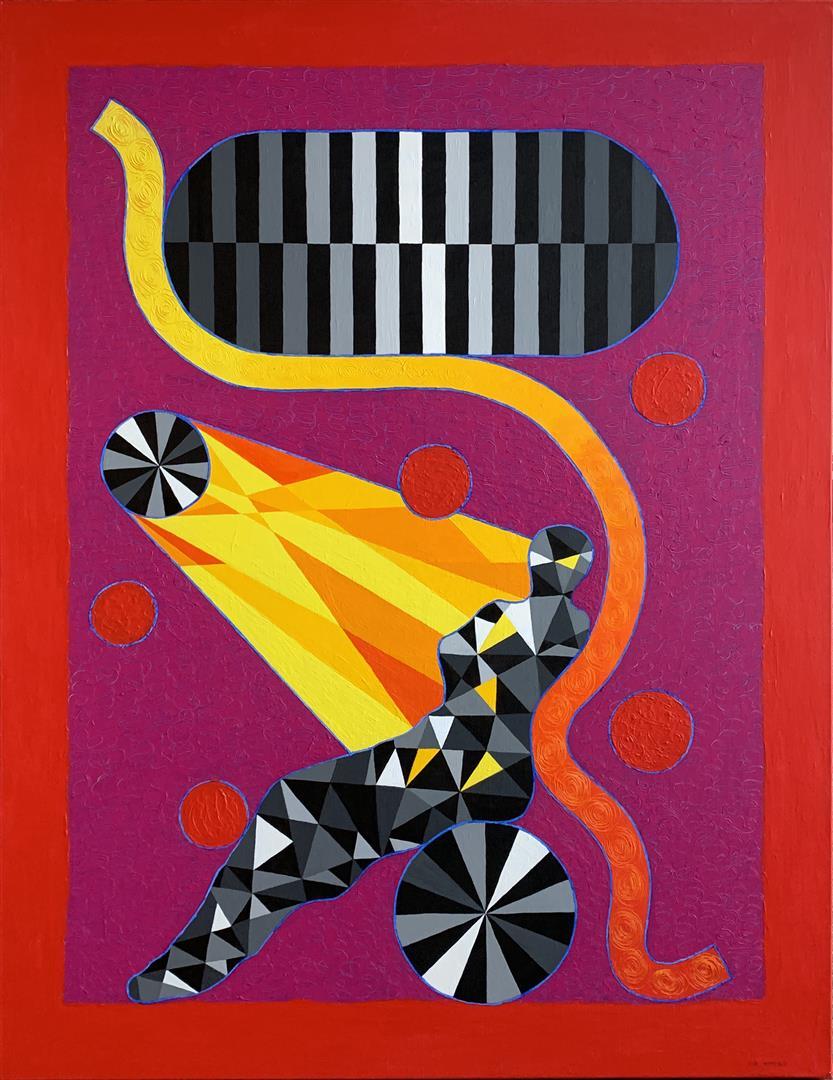 Pia Myrvold Sun Venus Akrylmaleri (116x90 cm) kr 46000 ur
