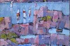 Bjørn Chr Røed Sommerdag Akrylmaleri (60x50 cm) kr 6200 mr