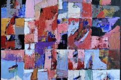 Bjørn Chr Røed Sommerminne Akrylmaleri (60x60 cm) kr 6800 ur