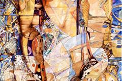 Elena Vorobyeva Stråler Olje på lerret (70x50 cm) kr 15000 ur