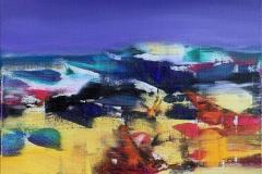 Jan Kristoffersen Mot kveld Akrylmaleri (50x50 cm) kr 5500