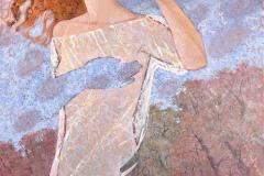 Julia Mordvinova Gilje Enchanted woods II Oljemaleri (80x80 cm) kr 10000 ur