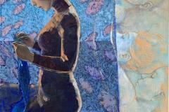 Julia Mordvinova Gilje Kveld Oljemaleri (100x70 cm) kr 12000 ur
