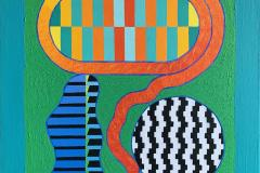 Pia Myrvold Garden Play Akrylmaleri (92x74 cm) kr 32000 ur