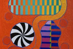 Pia Myrvold Liten Time Shield Akrylmaleri (55x46 cm) kr 19600 ur