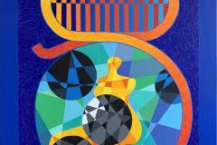 "Pia Myrvold ""The Muse"" Akrylmaleri (116x90 cm) kr 46000 ur"