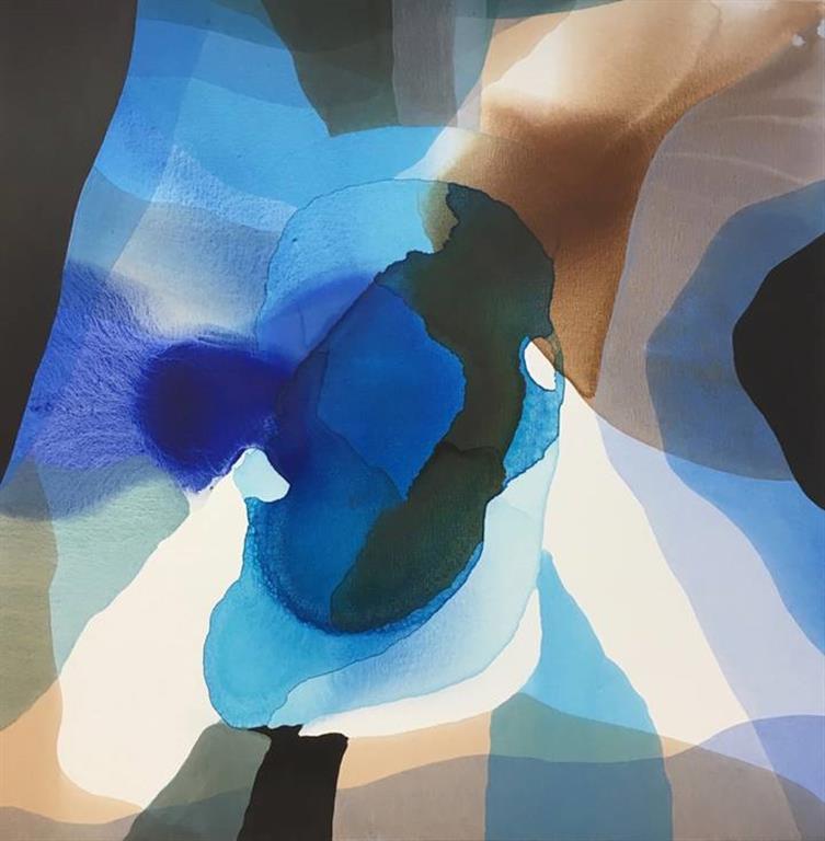 Annette Bryne Farger og fly I Akrylmaleri (80x80 cm) kr 8000 ur