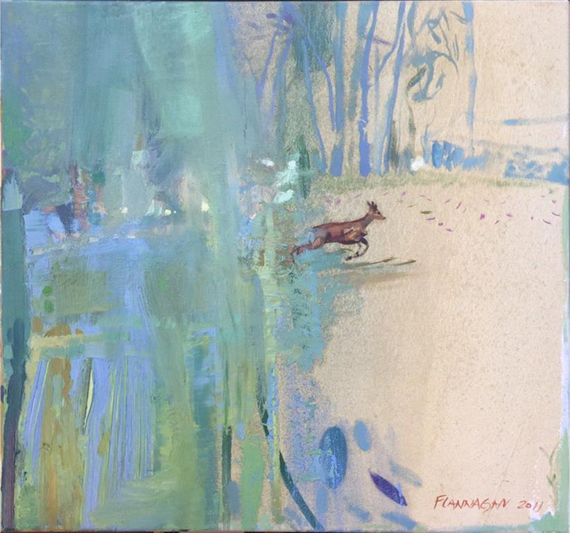 Craig Flannagan: Dådyr Oljemaleri (73x78 cm) kr 16500 ur