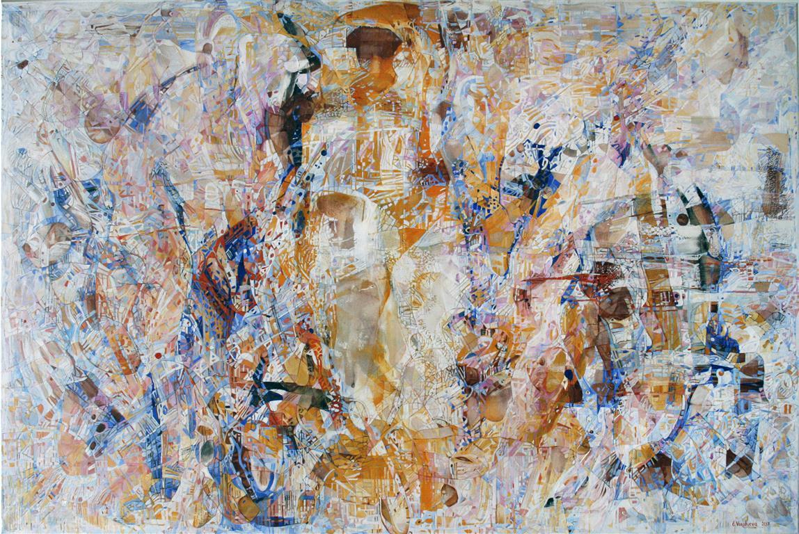 Elena Vorobyeva: Kjærlighetsformel Oljemaleri (100x150 cm) kr 50000 ur