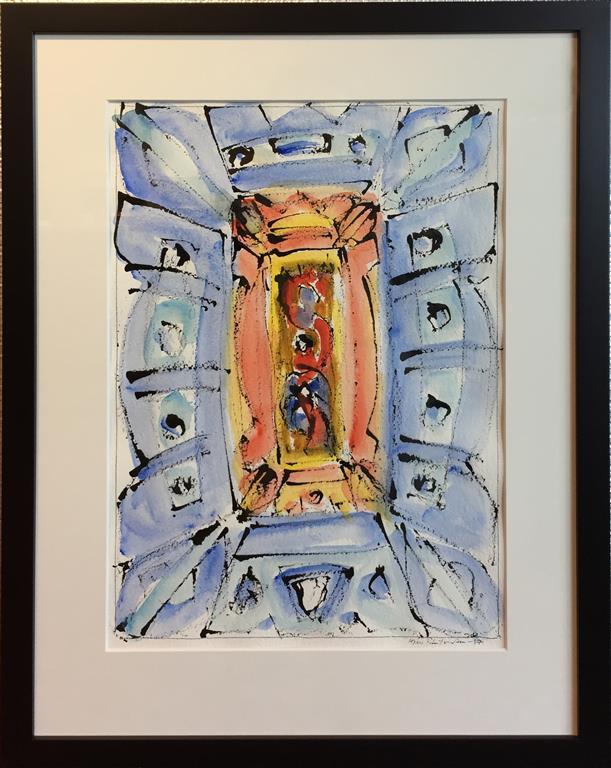 """Kjell Pahr-Iversen """"Ikon IV"""" Akvarell (45x30 cm) kr 7500 mr"""
