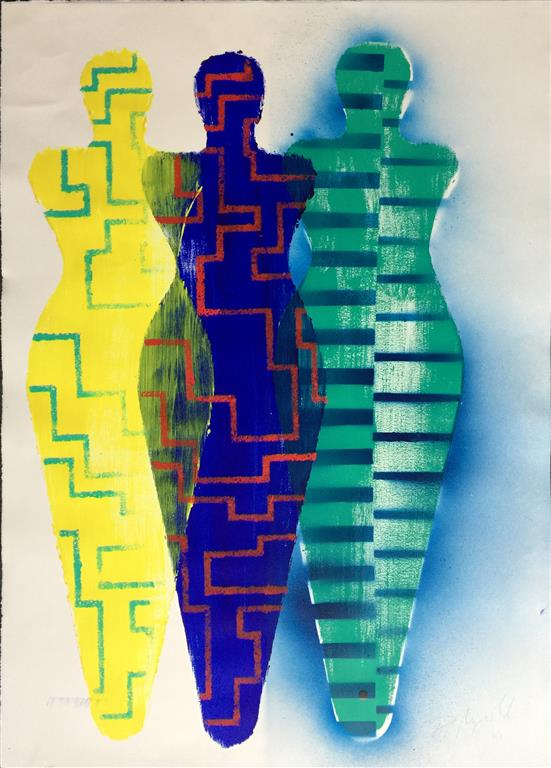"Pia Myrvold ""Venustrio"" Akryl på papir (100x70 cm) kr 20000 mr"