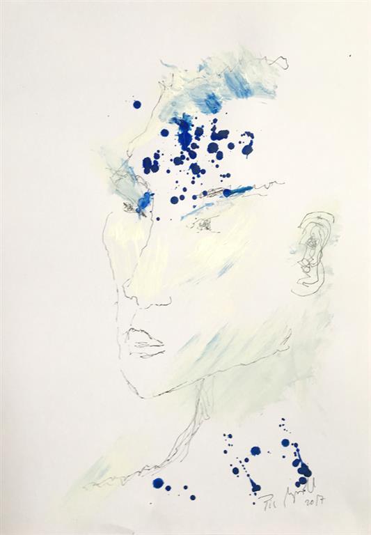 """Pia Myrvorld """"Ghostserien I"""" Tegning (40x27 cm) kr 7000 mr"""