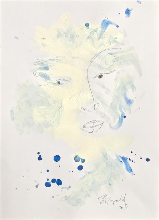 "Pia Myrvorld ""Ghostserien II"" Tegning (40x27 cm) kr 7000 mr"