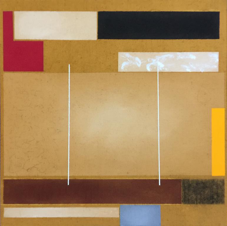 "Torunn Thrall ""Komposisjon 3"" Akrylmaleri (40x40 cm) kr 5300 ur"