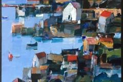 Bjørn Chr Røed Holmesund Akrylmaleri (60x60 cm) kr 6500 ur