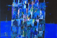 """Bjørn Chr Røed: """"Katedral"""" Akrylmaleri (60x60 cm) kr 6200 ur"""