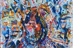 """Elena Vorobyeva: """"Høst"""" Oljemaleri (40x40 cm) kr 8000 ur"""