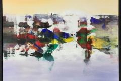 """Jan Kristoffersen """"Ut mot havet I"""" Akrylmaleri (70x70 cm) kr 7500 mr"""