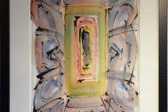 """Kjell Pahr-Iversen """"Ikon I"""" Akvarell (45x30 cm) kr 7500 mr"""