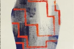 """Pia Myrvold """"Blå Venus"""" Akryl på papir (100x35 cm) kr 9500 mr"""